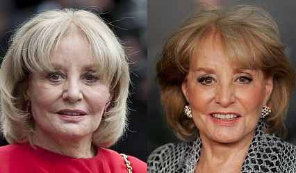 Barbara Walters plastic surgery Barbara Walters before and after photo