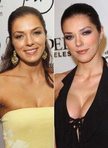 Adrianne Curry Plastic Surgery Before and After Photo Showing Boob and Nose Job