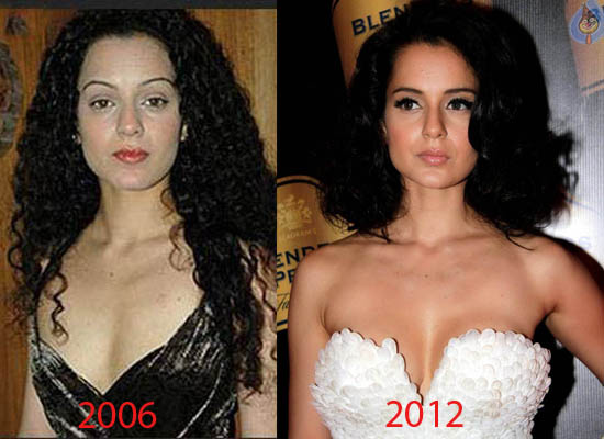 kangana ranaut before and after photo