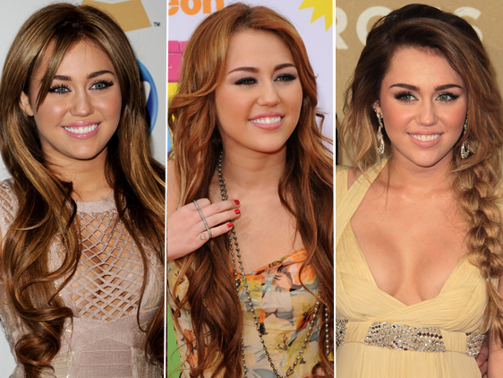 miley cyrus before and after photos