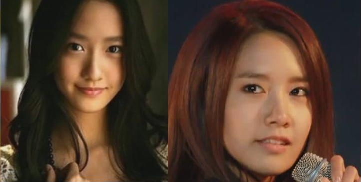 Im Yoona Plastic Surgery Before and After Photo Showing Nose Job and    Yoona Plastic Surgery Nose