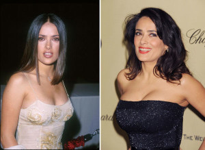 Salma Hayek best boob job, Salma Hayek best breast implants