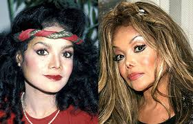 La Toya Jackson nose job gone wrong