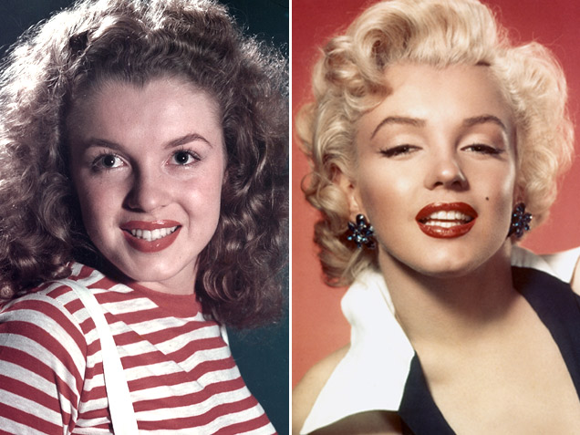 marilyn monroe plastic surgery before and after photo