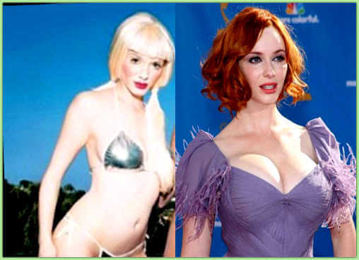 Christina Hendrcks plastic surgery before and after photos