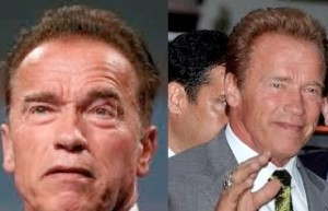 Arnold Schwarzenegger before and after photo