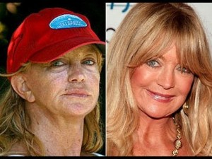 goldie hawn before and after photo