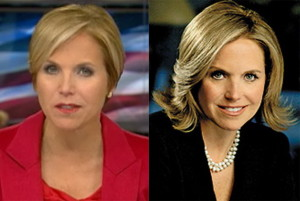 Katie Couric before and after Photo