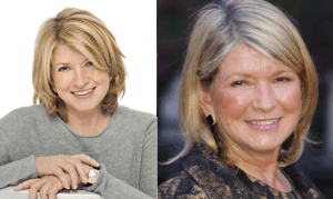 Martha Stewart plastic surgery before and after photos